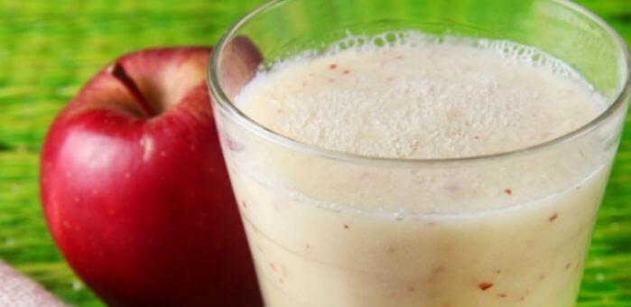 Vitamina de Maça com Iogurte